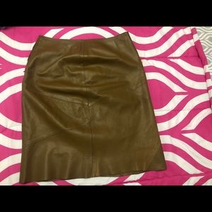 Dresses & Skirts - Vintage Pascale Vuylsteke Leather Skirt Sz 40